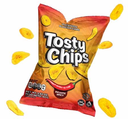 snack tosty chips picante 80gr