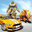 Rhino Robot Car transforming games – City battle icon