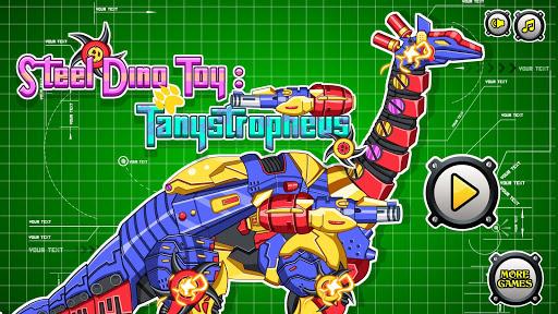 機械長頸龍:組裝恐龍玩具——系列益智拼圖小遊戲