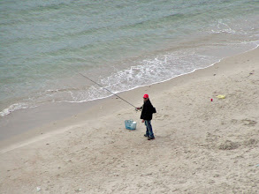 Photo: Fishing on the beach