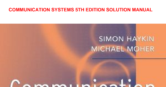 communication systems 5th edition solution manual.pdf - Google Drive