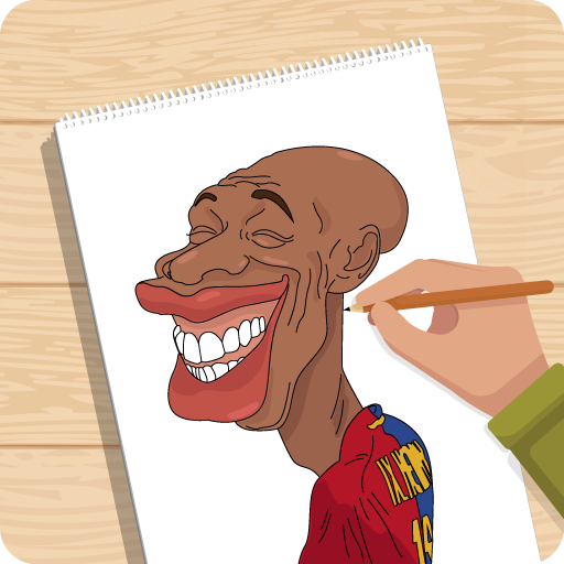 Draw football caricature