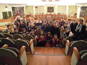 """Photo: 26/03/2015 - Scuola media """"Aldo Moro"""" di Bruino (To). Classi prime mischiate. Con gli studenti c'è anche il consigliere regionale Andrea Appiano."""