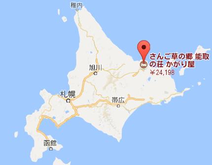 地図:能取の荘 かがり屋
