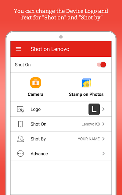 ShotOn for Lenovo: Auto Add Shot on Stamp on Photo APK Download
