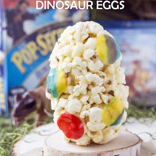 Marshmallow Popcorn Dinosaur Eggs