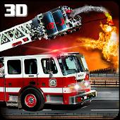 Modern Fire Driver Truck