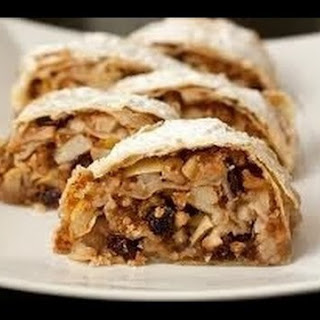 Useful Strudel With Apples, Raisins And Nuts