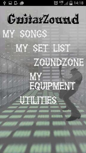 GuitarZound - set list - PRO