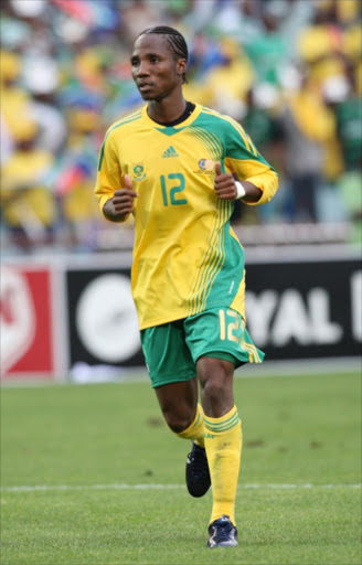 Teko Modise of South Africa during the Nelson Mandela Challenge between Bafana Bafana and USA at Ellis Park in Johannesburg. USA won 1-0. Pic: Sydney Seshibedi. 17/11/2007. © The Times