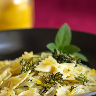 Pasta with Broccolini, Leeks and Preserved Lemon