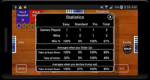 Euchre Card Classic 1.1 screenshots 8