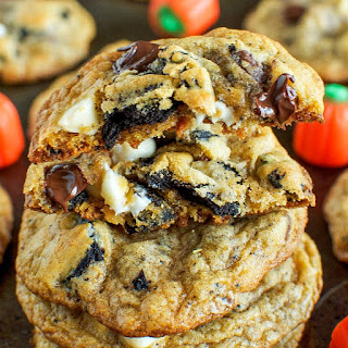 Pumpkin Spice Oreo Chocolate Chip Cookies