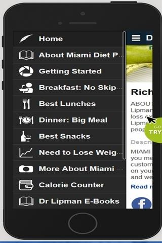 Miami Diet Plan- screenshot
