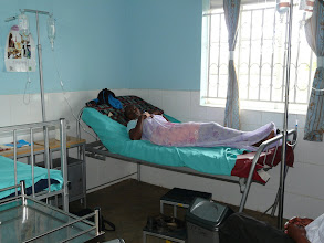 Photo: A patient on drip.  This is often used for malaria patients to give them back strength.