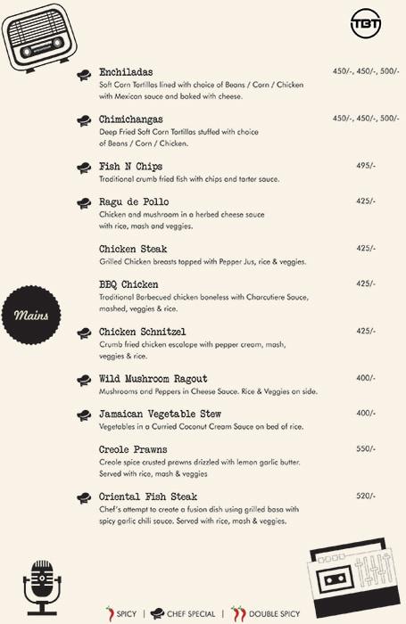 The Bar Tales menu 12