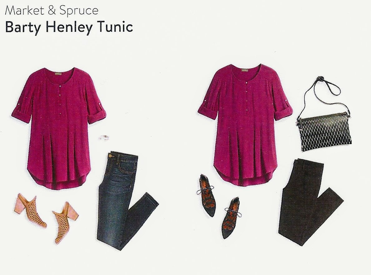 Stitch Fix box for February 2017, Market & Spruce Barty Henley Tunic