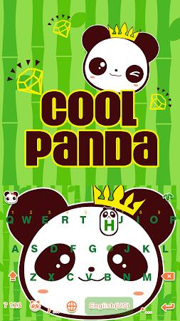 Cool Panda Kika Keyboard Theme 4.0 screenshot 1058770