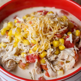 Slow Cooker Mexican Chicken-Corn Soup.