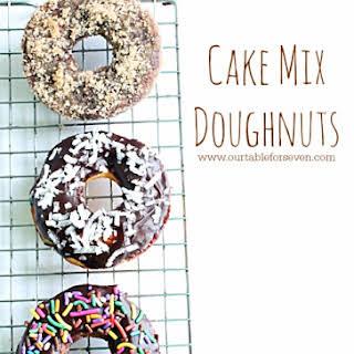 Cake Mix Doughnuts.