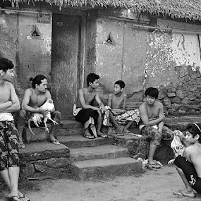 Their rooster by I Wayan Gunayasa - People Portraits of Men