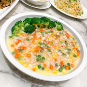 E22. Steamed Egg with Seafood and Dried Scallop 瑤柱海皇蒸水蛋