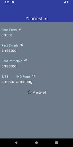 English Verb Forms Dictionary screenshots 2