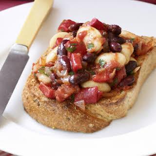 Mixed Bean Bruschetta.