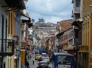 Photo: Old Cuenca street scene