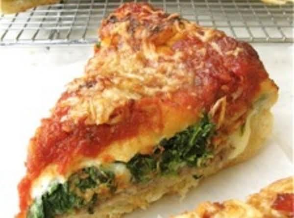 Stuffed Spinach Pizza Pie Recipe