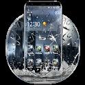 3D Rain Broken Glass Theme icon