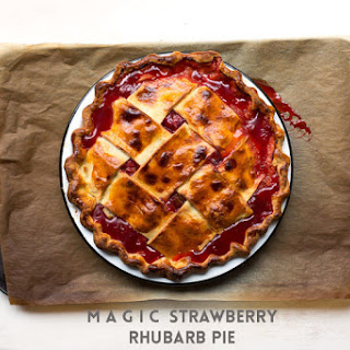 Magic Strawberry Rhubarb Pie