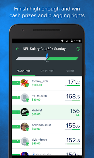 FanDuel Fantasy Football screenshot