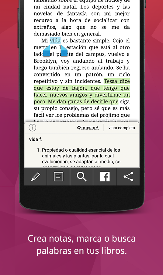 Leer libros digitales - Kobo Books: captura de pantalla