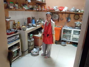 Photo: Jeudi in her new kitchen