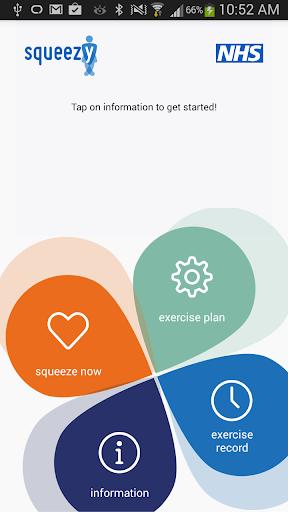 Squeezy: NHS Pelvic Floor App  screenshots 1