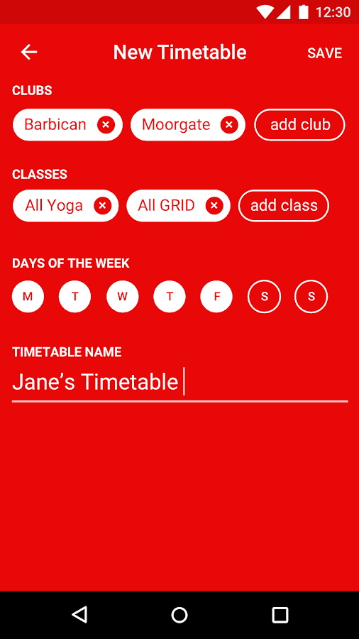 Virgin Active UK- screenshot