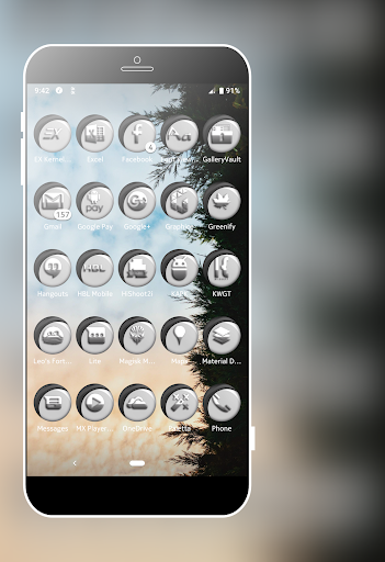 Download Grayish White Icons Pack MOD APK 7