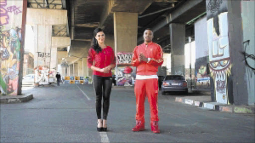 Lalla Hirayama and Fred Kayembe are presenters of the new reality dance show 'Masters of Rhythm'