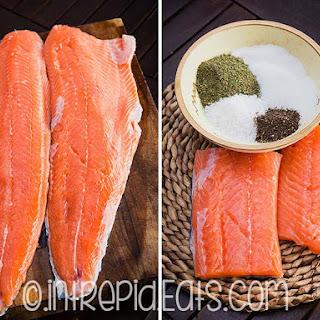 Homemade salmon gravlax. Cured salmon gavadlax
