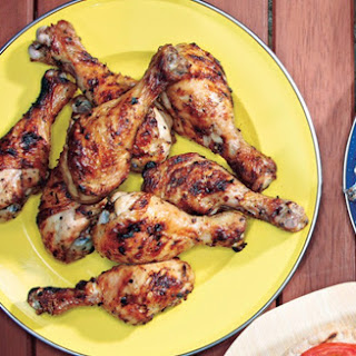 Grilled Lemon-Oregano Chicken Drumsticks.