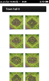 layout for clash of clans - náhled