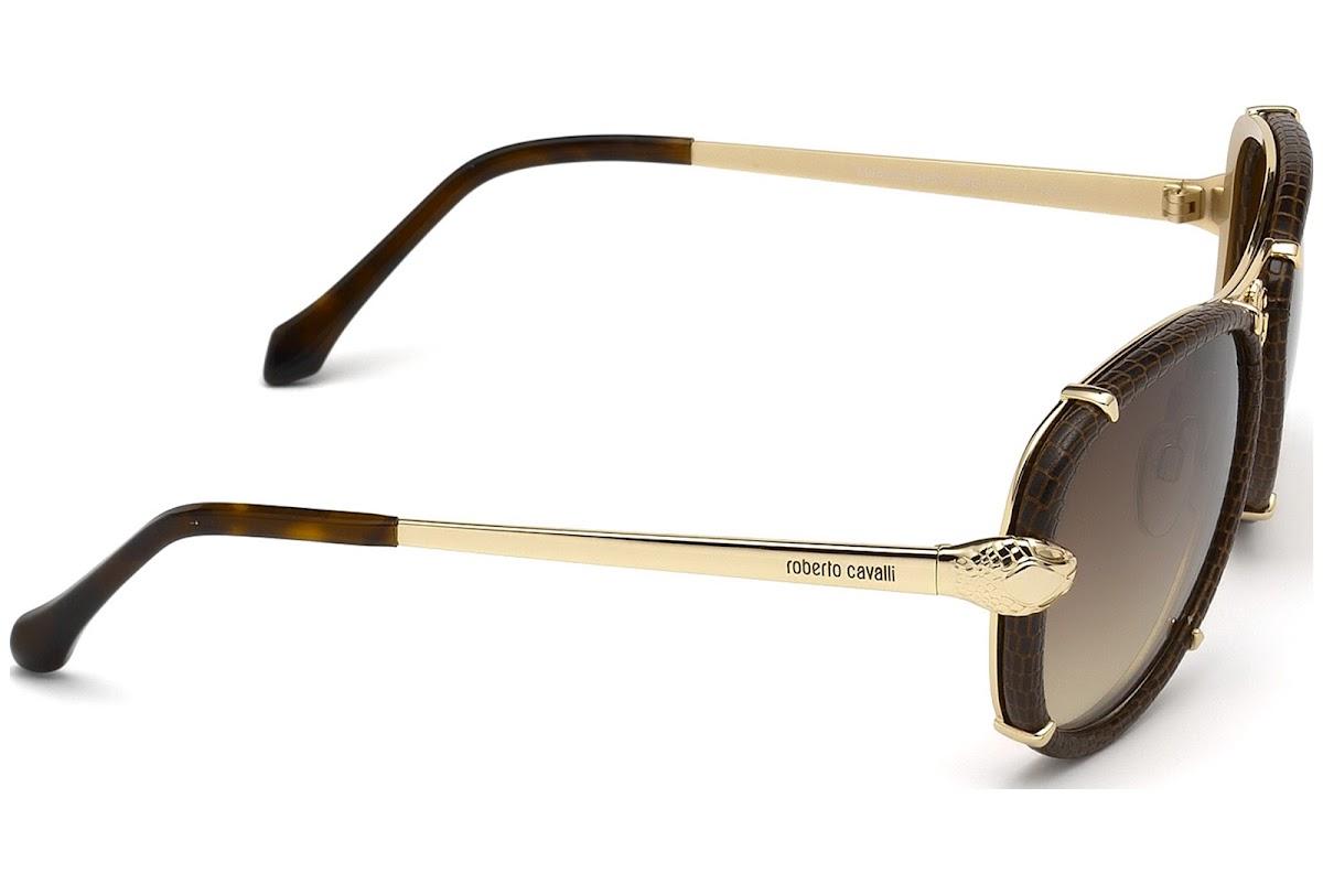 28a029ed651 Sunglasses Roberto Cavalli Mebsuta RC885S C57 28G (shiny rose gold   brown  mirror)