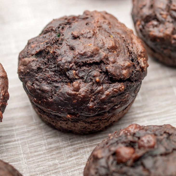 Healthy Zucchini Chocolate Muffins
