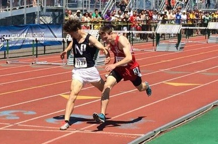 NY 1600 final, with Mikey Brannigan on the left and Luke Gavigan on the right.