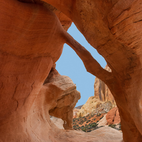 See-Through by Phyllis Plotkin - Landscapes Caves & Formations ( open, valley of fire state park, nevada, cave, rocks )