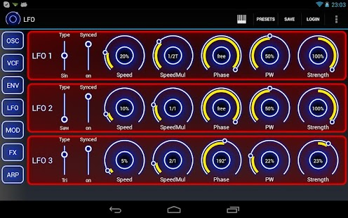 Heat Synthesizer Demo Screenshot