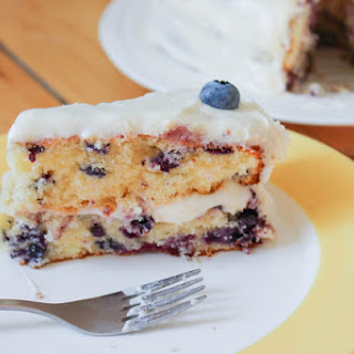 Blueberry Layer-Cake with Cream Cheese Icing