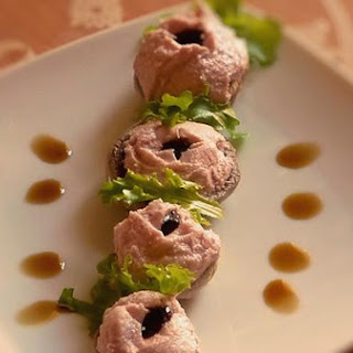 Mushrooms With Mortadella Mousse