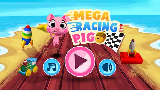 レースゲーム 実行中の 豚